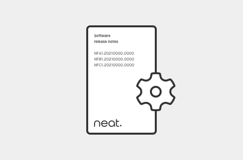 Neat Pad only: Version 20210922 Release Notes